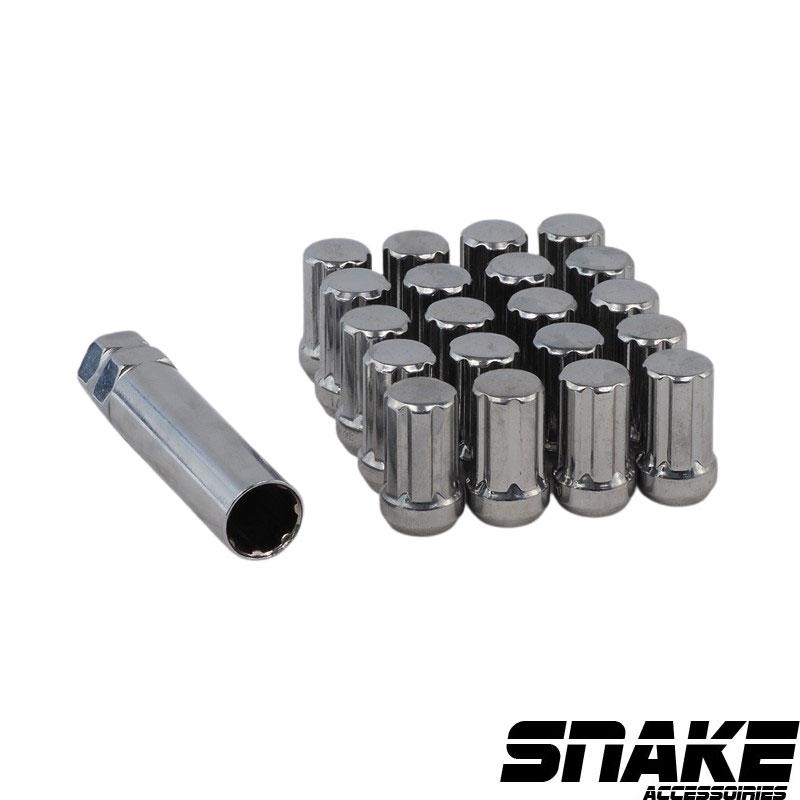 Écrous de roue (lug nuts) de la marque SNAKE 7  Spline  • Cone seat  • 19/21  • 35  • 1/2  X 20 (MM)