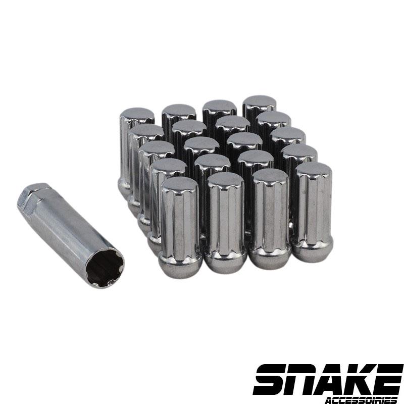 Écrous de roue (lug nuts) de la marque SNAKE 7  Spline  • Cone seat  • 21/22  • 51  • 14  X 1.5 (MM)