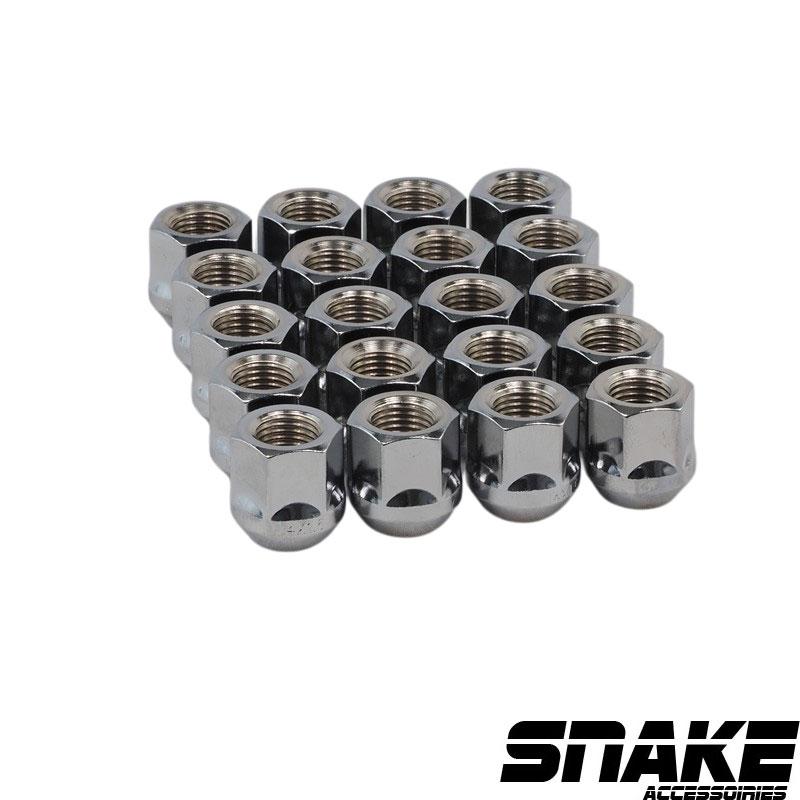 Écrous de roue (lug nuts) de la marque SNAKE Hexagonal  • Cone seat  • 21  • 25  • 14  X 2.0 (MM)