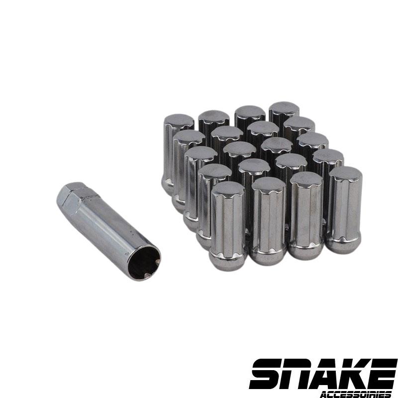 Écrous de roue (lug nuts) de la marque SNAKE  7  Spline  • Cone seat  • 21/22  • 51  • 14  X 2.0 (MM)