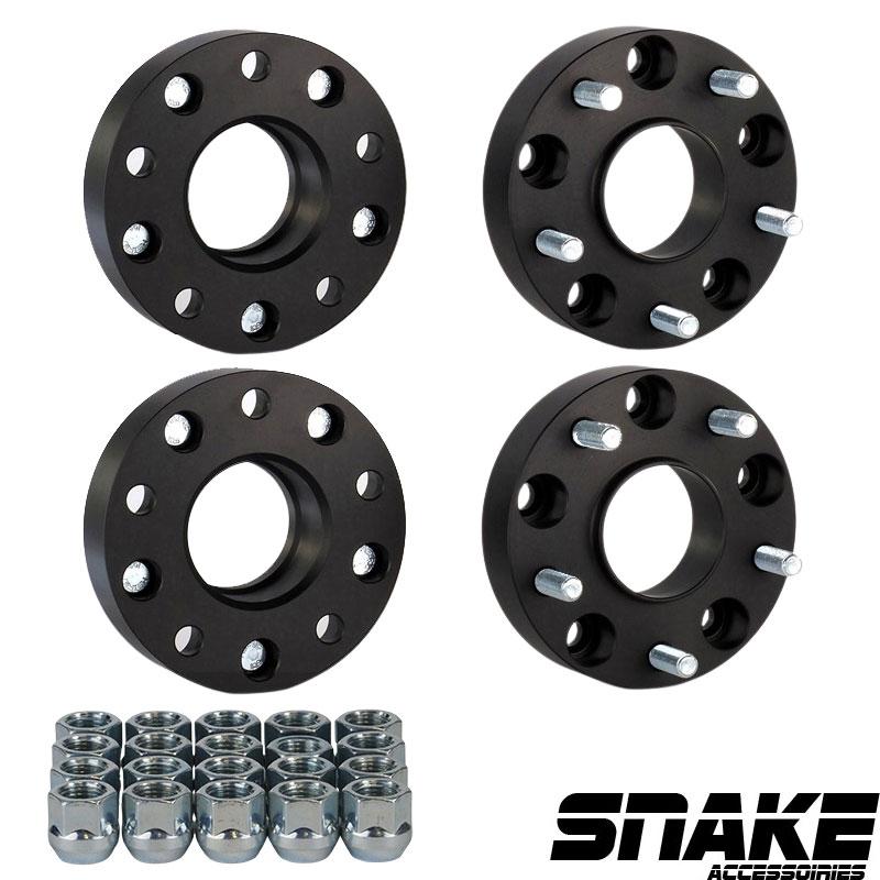 Spacer de roue Adaptateurs de roue Snake Entretoise de roue BP véhicule : 5 X 139.7 BP roue : 5 X 139.7 Épaisseur : 1.50 Pouces | 38.1 MM Coeur : 77.8 Filetage véhicule : 14 x 1.5 MM Filetage adaptateur : 14 x 1.5 MM