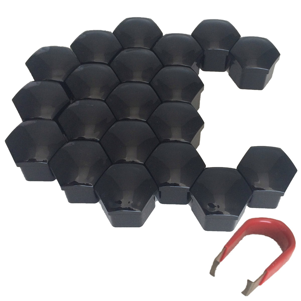 WHEEL BOLT COVER CAPS -  (BLACK)